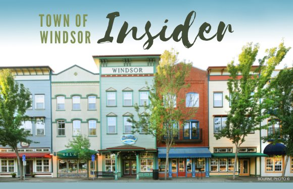 Image of downtown with words Town of Windsor Insider