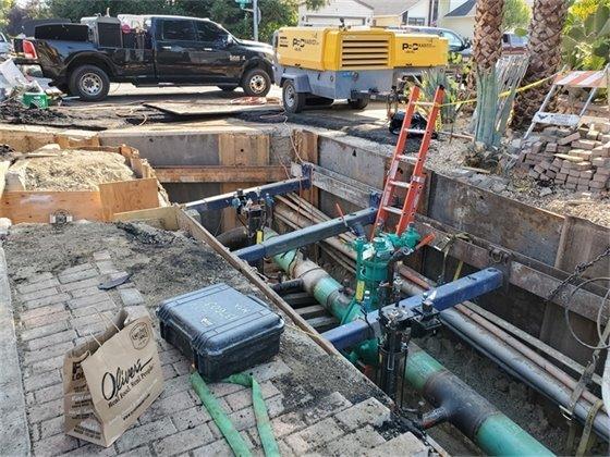 :G&E gas main work
