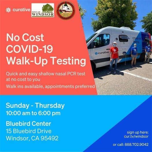 COVID-19 testing in Windsor