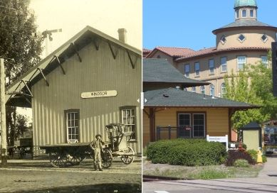 Train Depot - Then and Now
