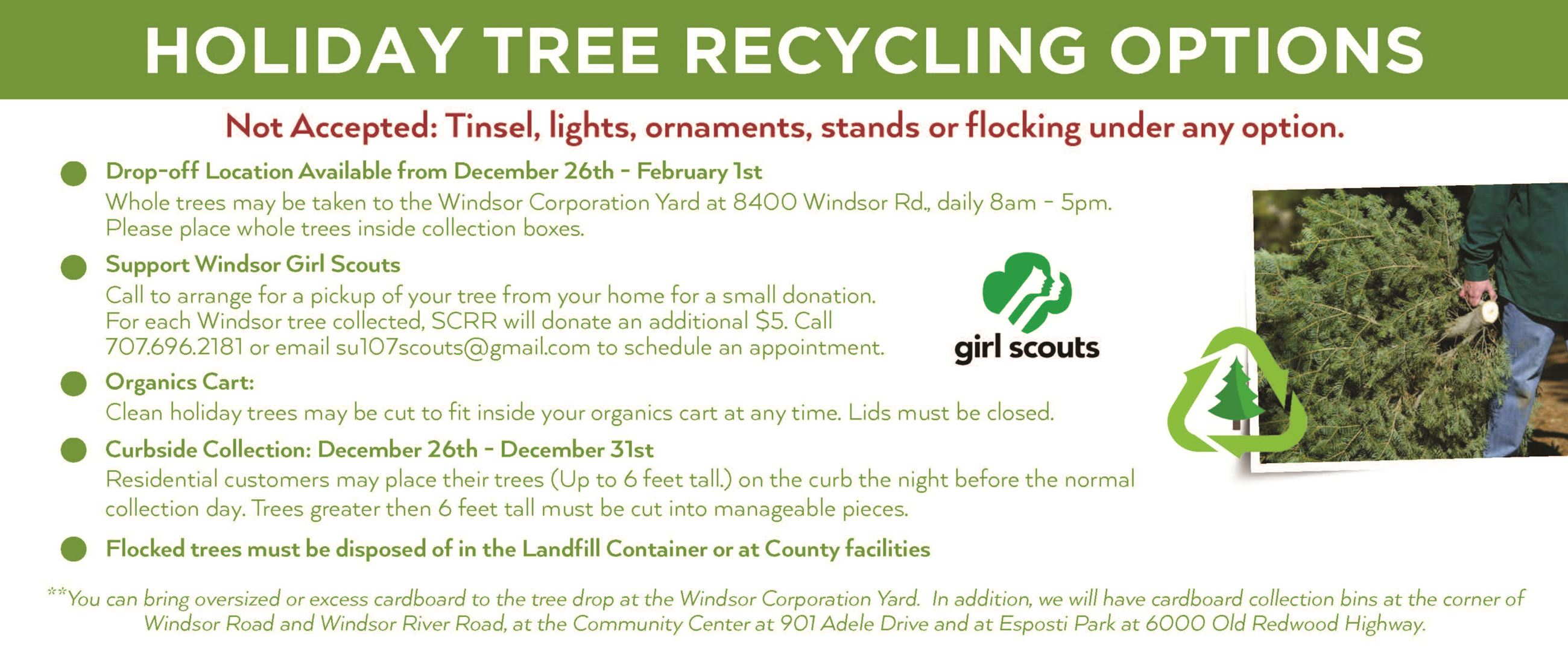holiday schedule 2018_holiday tree recycling