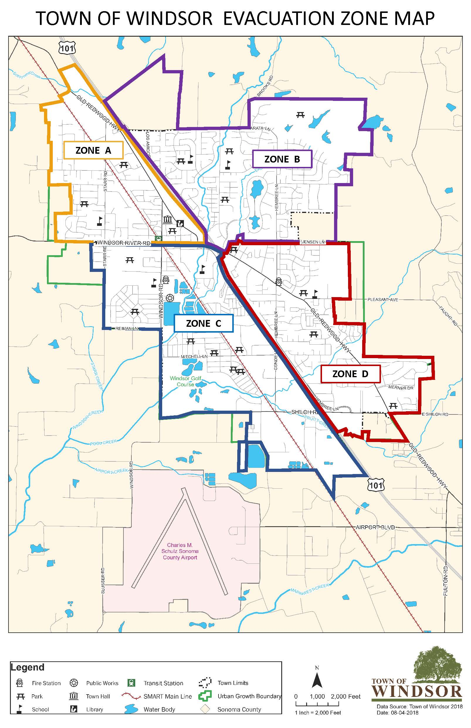 Windsor Evacuation Zones