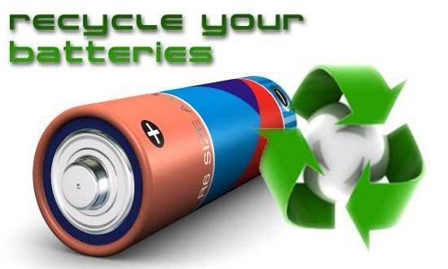 Recycle batteries symbol